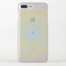 Pansexual Pride Spirograph Clear iPhone Case