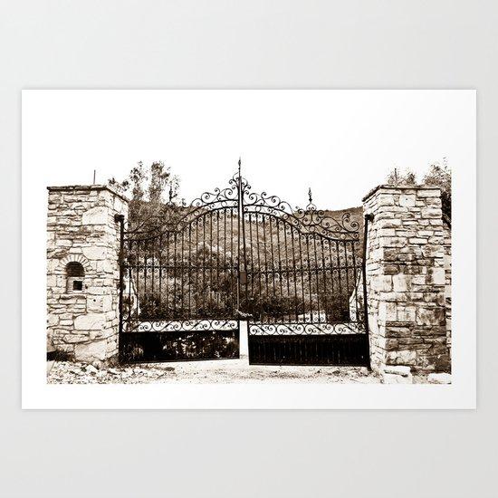 Old Gates Art Print
