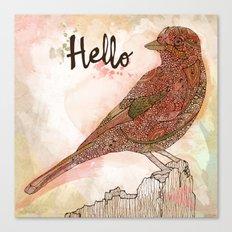 Hello Bird Canvas Print