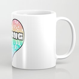 Pastel Strong Mosaic  Filled Heart Graphic Design Coffee Mug