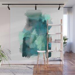 Abstract Jade Color Story Wall Mural