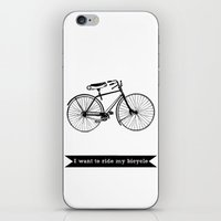 bicycle iPhone & iPod Skins featuring bicycle by Beverly LeFevre