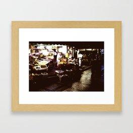 Guangzhou Night Shopping Framed Art Print