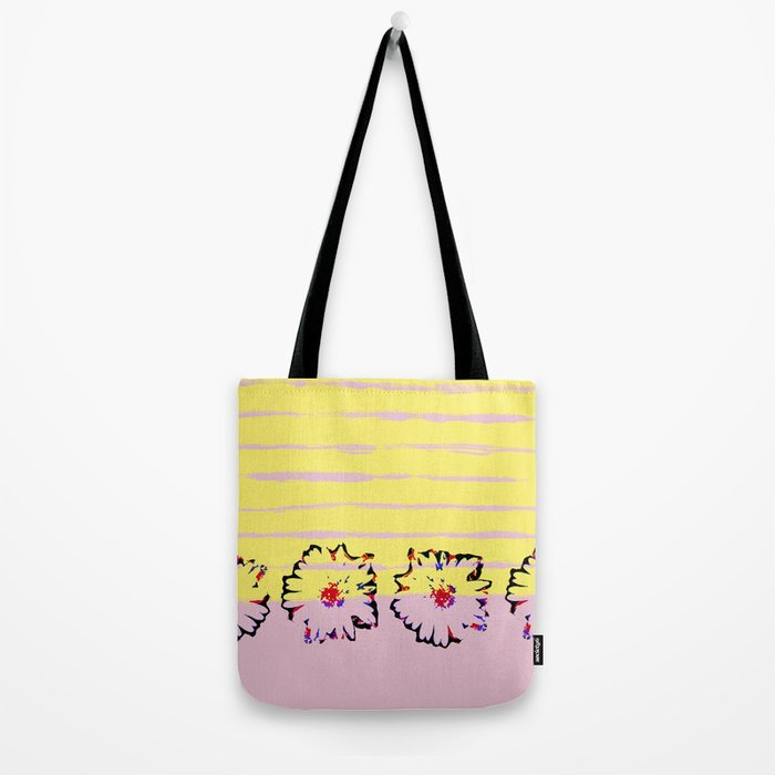 Stripes and flowers Tote Bag