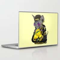 boxing Laptop & iPad Skins featuring Boxing Cat 3 by Tummeow