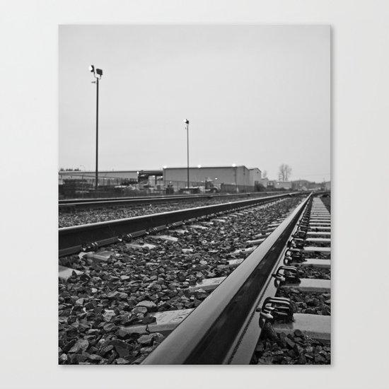 South Tacoma train tracks Canvas Print