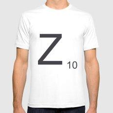 Scrabble Z Mens Fitted Tee MEDIUM White