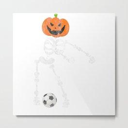 Skeleton Exoskeleton Bones Halloween Scary Football Metal Print