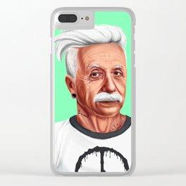 Hipstory -  Albert Einstein Clear iPhone Case