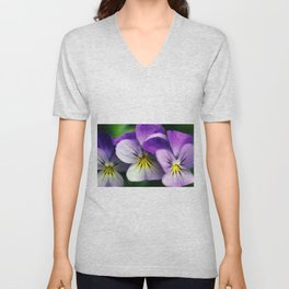 Pansies Unisex V-Neck