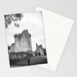 """""""The Ghost of Ross Castle"""" - Black and White Film Photograph taken in Killarney, Ireland Stationery Cards"""