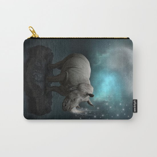 Power Is No Blessing In Itself v.2 (Protect the Rhino)  Carry-All Pouch