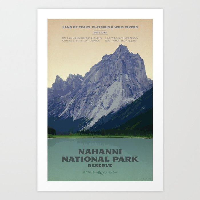 Nahanni National Park Poster Art Print