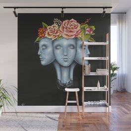 Blank Faces Wall Mural