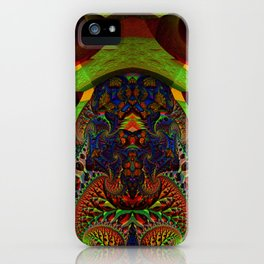 Psychedelic Fractal Geometry - different perspective iPhone Case