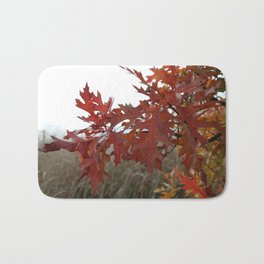 Red Leaves with Bokah Bath Mat