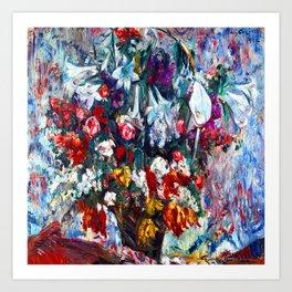 Lovis Corinth Flower Basket Art Print