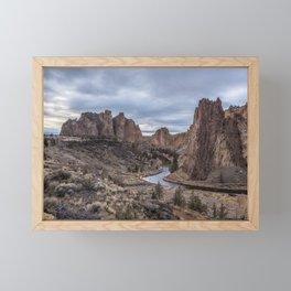 Twilight at Smith Rock State Park Framed Mini Art Print
