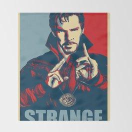 Obey Strange doctor Throw Blanket