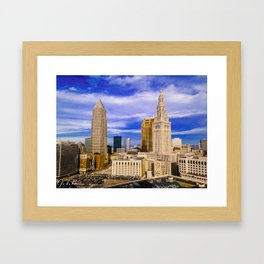 Cleveland in Full Color Framed Art Print