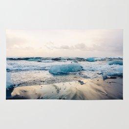 Diamond Beach, Iceland 2 #photography #iceland Rug
