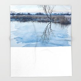 River Ant Throw Blanket