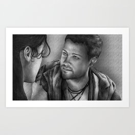 Nagron First Kiss (Agron, Spartacus) Art Print