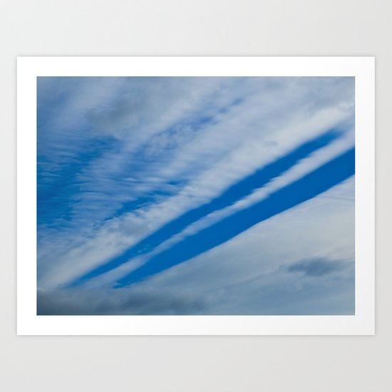 Cloud Tracks Art Print
