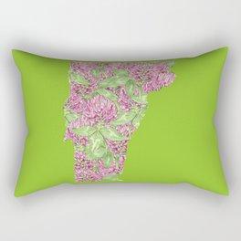 Vermont in Flowers Rectangular Pillow