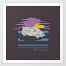 Hit the Road Art Print