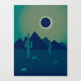Desert Eclipse Canvas Print