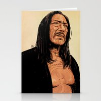 danny haas Stationery Cards featuring Danny Trejo by Giuseppe Cristiano