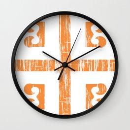 Byzantine Cross Wall Clock