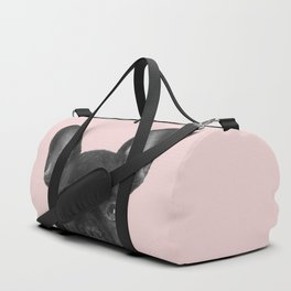 Blush pink Frenchie pop Duffle Bag