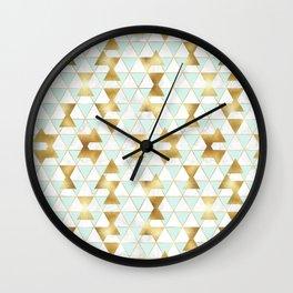 Mint & Gold - hana Wall Clock