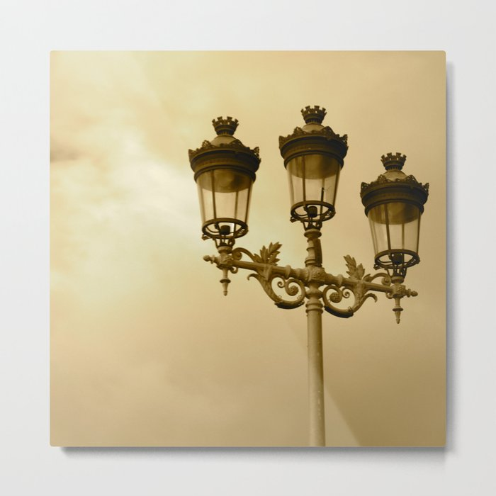 Between Me You and the Lamppost Metal Print