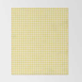 Yellow Houndstooth Pattern Throw Blanket