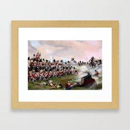 British Squares Hold at Quatre Bras Framed Art Print