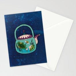Minhwa: Mint Teapot (Korean traditional/folk art) Stationery Cards