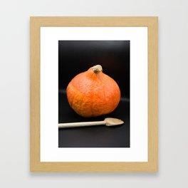 Pumpkin and wooden spoon Framed Art Print