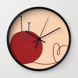 Knitted Love Wall Clock