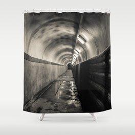 Down below -  Crumlin Road Gaol Shower Curtain