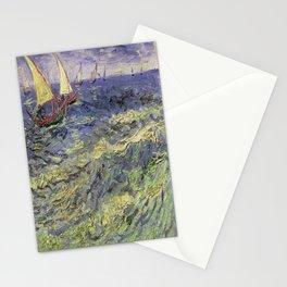 Vincent van Gogh's Seascape Near Les Saintes-Maries-de-la-Mer Stationery Cards