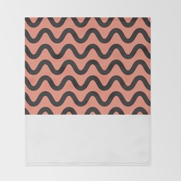 Coral Ripple Throw Blanket
