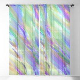 Colorful digital art splashing G401 Sheer Curtain