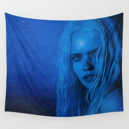 The Blue Angel Woman Wall Tapestry