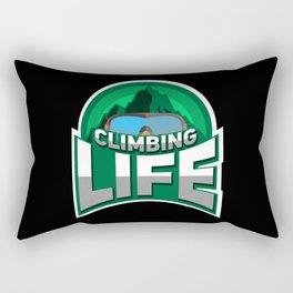 Rock Climbing - Climbing Life Rectangular Pillow