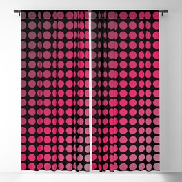 Mod polka dot in grey and magenta color combination Blackout Curtain