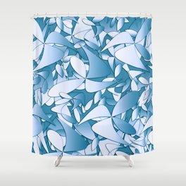 Pattern blue 155 Shower Curtain
