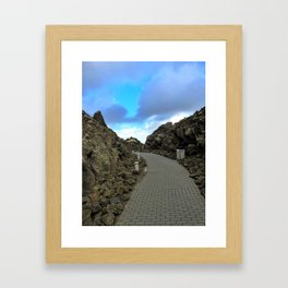 Lava Rocks at the Entrance to Iceland's Blue Lagoon (1) Framed Art Print
